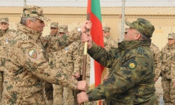 35-ият български военен контингент пое задачите си в  в Афганистан