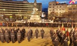 Тържествената проверка (заря) по повод Националния празник на България - Трети март.