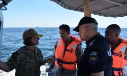 Български и американски военни моряци проведоха съвместно учение