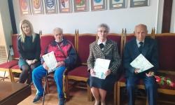 Ветерани от Горна Оряховица получиха юбилейни медали