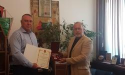 Полк. Славчо Велков с награда от министъра на отбраната