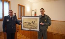 Началникът на щаба на авиобаза Граф Игнатиево полковник Пламен Петков премина в резерва