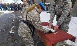 Клетва на военнослужещи в Зенитно-ракетната база