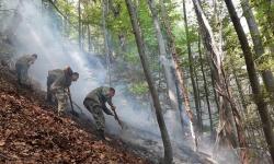 Артилеристите продължават борбата с пожарите